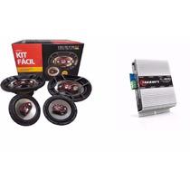Kit Facil Bravox +triaxial 6x9 + Modulo Taramps Tl600