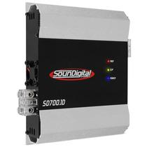 Modulo Amplificador Soundigital Sd-700.1d 2 Ohms 700 Rms Rca