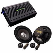 Kit Audiophonic C/ Kit 2 Vias 6 Pol 120w + Módulo Hp4000