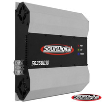 Modulo Amplificador Soundigital Sd3500.1d 3500w Rms 1/2 Ohms