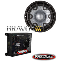 Kit Amplificador Soundigital Sd600.1+ Bravox Uxp 12 Pol. D4