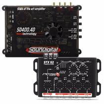 Modulo Soundigital Sd400 4d Nano + Crossover Stetsom Stx 52
