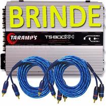 Modulo Amplificador Taramps Ts800 X4 Compact 800w Rms + Cabo