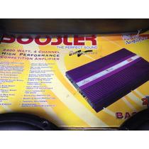 Módulo De Som - Booster 2400w 4 Canais - 600w E 1200w Rms