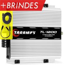 Taramps Tl 1200 Amplificador Tl1200 260w + Cabos Rca + Frete