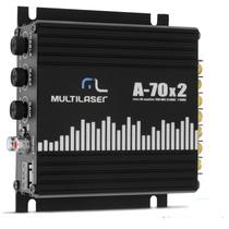 Modulo Multilaser 70w Rca 2 Canais P/ Falante 6 6x9 5 5x7 4
