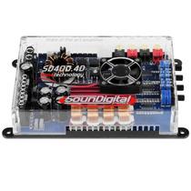 Módulo Amplificador Soundigital 400.4d 500wrms 14,4v 4canais