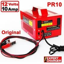 Carregador De Bateria 12 Volts - 10 Amp Automático N Desliga