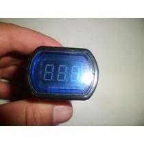 Voltimetro Medidor De Tensão Digital De Led Azul