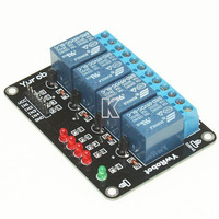Modulo Rele 4 Canais C/ Led Ind. P/ Arduino Pic Arm Avr Robo