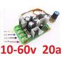Controlador Pwm 20a 9v-60v Dc Controle De Rotação Motor Hho