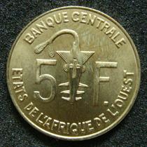 Moedas - Estados Da Africa Ocidental - 5 Francs 2005 - Fc