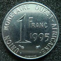 Moedas - Estados Da Africa Ocidental - 1 Franc 1995 - Fc