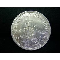 Rb2042 - África Do Sul Moeda Prata 5 Shillings 1952 Fc