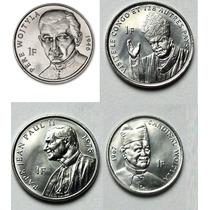 Set 4 Moedas Comemorativas Do Congo 2004 Papa João Paulo Fc