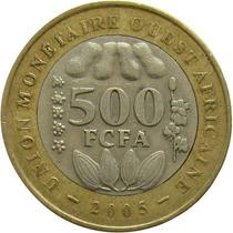 Estados Da África Ocidental - 500 Francos 2005 (bimetálica)