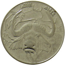 Argélia - 1 Dinar 2005 (búfalo)