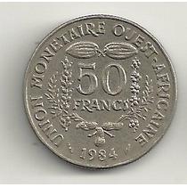 50 Francos - Estados Africanos Do Oeste - 1984