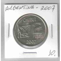 Ml-6648 Moeda Argentina (2 Pesos) 30mm 2007