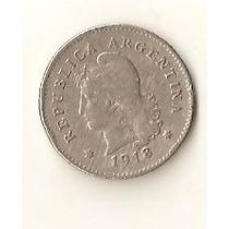 2050 - Argentina 10 Centavos 1918 - Niquel - Escassa