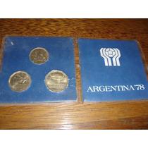 Rara Moedas Comemorativas Da Copa Do Mundo Da Argentina 1978
