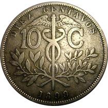 Moeda Antiga De Prata - Bolivia 1899