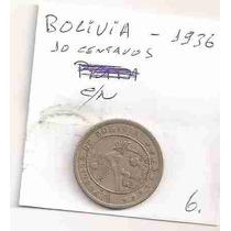 Ml-0759 - Moeda Da Bolívia - C/n - 10 Cents. - 1936
