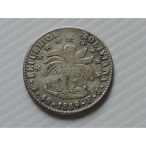 Bolivia 4 Soles Fj Potosi 1859 Prata 13,5 Gr