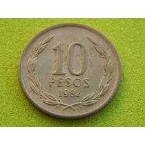 Moeda Do Chile De 10 Pesos De 1982 (ref 47)