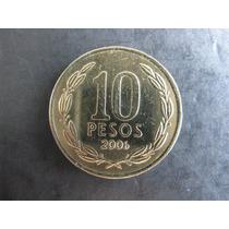 Moeda De 10 Peso Do Chile De 2006