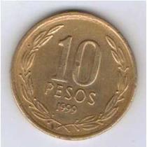 Moeda Chile 10 Pesos 1999