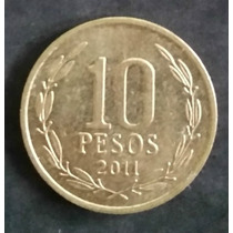 Moeda Chile - 10 Dez Pesos - Ano 2011
