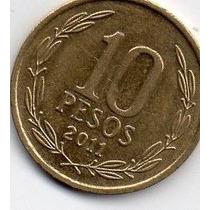 Moeda Chile 10 Pesos 2011