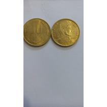 Lote 3 Moeda De 10-50-100 Pesos Chileno