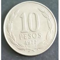 Moeda Chile - 10 Dez Pesos - Ano 1977