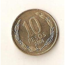 Moeda De10 Pesos 2005 Republica De Chile