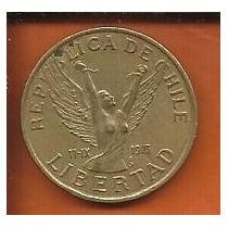 Moeda Chile 10 Pesos 1981 21mm