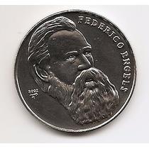 Cuba, Moeda De 1 Peso, 2002, Ni, Fc - Federico Engels -