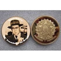 20º Pres. Da República - Nereu Ramos - Com Brasão - B. Ouro