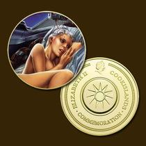 9959b - Mitologia Nórdica - Banhada A Ouro 24 K - 40 Mm