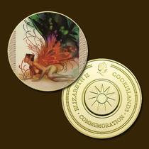 9746d - Mitologia Nórdica - Banhada A Ouro 24 K - 40 Mm