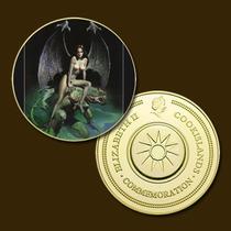 10350 - Mitologia Nórdica - Banhada A Ouro 24 K - 40 Mm