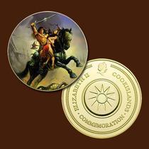 9969a - Mitologia Nórdica - Banhada A Ouro 24 K - 40 Mm