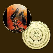 9887a - Mitologia Nórdica - Banhada A Ouro 24 K - 40 Mm