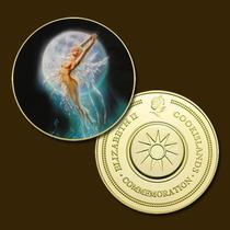 10345 - Mitologia Nórdica - Banhada A Ouro 24 K - 40 Mm