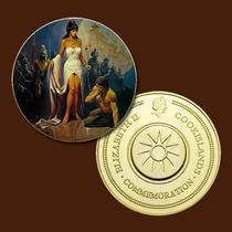 9943a - Mitologia Nórdica - Banhada A Ouro 24 K - 40 Mm