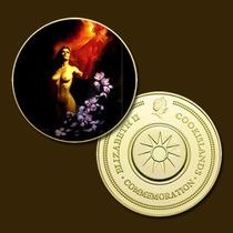 10337 - Mitologia Nórdica - Banhada A Ouro 24 K - 40 Mm