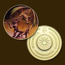 9892a - Mitologia Nórdica - Banhada A Ouro 24 K - 40 Mm