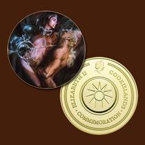 10165a - Mitologia Nórdica - Banhada A Ouro 24 K - 40 Mm