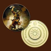 9949b - Mitologia Nórdica - Banhada A Ouro 24 K - 40 Mm